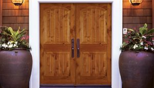 Unique Adornments for the Exterior Wood Doorways